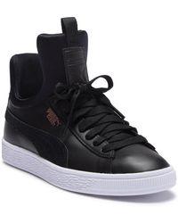 bd2a7e2d044bb4 Lyst - PUMA Fierce Strap Leather Women s Training Shoes in Black