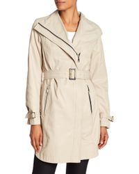 T Tahari - Evelyn Belted Trench Coat - Lyst