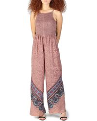 Angie Printed Wide Leg Jumpsuit - Multicolor