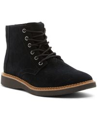 TOMS Porter Suede Chelsea Boot - Black