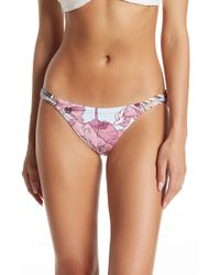 7336bb7dc3 Maaji - Bristle Gardens Reversible Chi Chi Cut Bikini Bottoms - Lyst