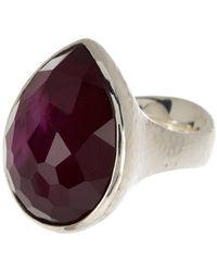Ippolita Sterling Silver Large Teardrop Ring - Metallic