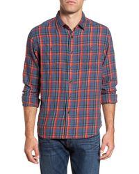 Grayers - Trent Slubbed Windowpane Print Modern Fit Sport Shirt - Lyst