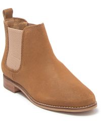 TOMS Ella Leather Chelsea Boot - Natural