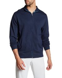 Peter Millar - Heather Interlock Full Zip Sweatshirt - Lyst