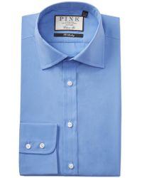 Thomas Pink Frederick Poplin Classic Fit Dress Shirt - Blue
