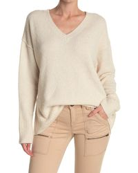 Line Eleanor Wool Blend Knit Sweeater - Natural