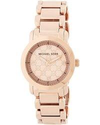MICHAEL Michael Kors - Women's Delrey Rose Gold-tone Bracelet Watch - Lyst
