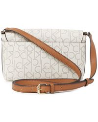Calvin Klein Printed Pindot Logo Crossbody Bag - Multicolor