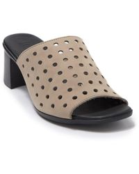Munro Jules Perforated Heeled Mule - Multiple Widths Available - Multicolor