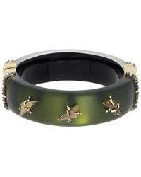 Alexis Bittar Triple Stone Studded Hinge Bracelet - Green