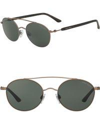 2b823c93a2d5 Lyst - Giorgio Armani Men s Aviator Sunglasses in Brown for Men
