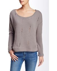 Threads For Thought - Blair Distressed Pullover Sweatshirt - Lyst