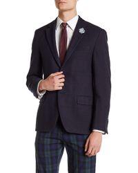Spurr By Simon Spurr - Logan Textured Plaid Slim Fit Sport Coat - Lyst
