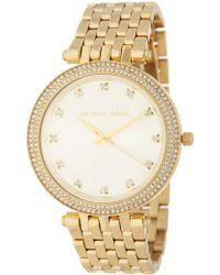 MICHAEL Michael Kors - Women's Darci Crystal Pave Bracelet Watch - Lyst