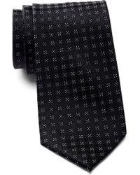Calvin Klein - Four Corner Grid Silk Tie - Lyst