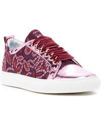 Lanvin - Metallic Cap Toe Brocade Sneaker - Lyst