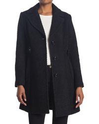 Gallery Boucle Knit Notch Collar Jacket - Black