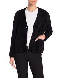 Cliche Fuzzy Knit Cardigan - Black