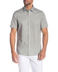 Michael Kors - Dot Print Short Sleeve Classic Fit Shirt - Lyst