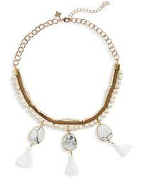 Panacea - Bead & Tassel Collar Necklace - Lyst