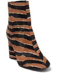 Rebecca Minkoff Ilia Genuine Calf Hair Tiger Bootie - Black