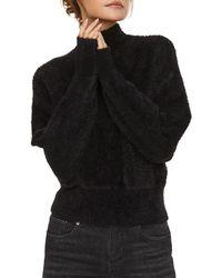 Vero Moda Alva Mock Neck Batwing Sweater - Black