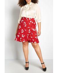 ModCloth Ruffle Wrap Skirt - Red