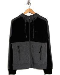 Tahari Tech Colorblock Full Zip Jacket - Black