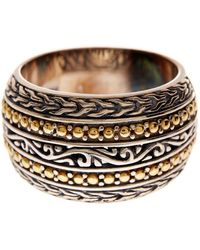 Effy 18k Yellow Gold & Sterling Silver Patterned Band - Multicolour