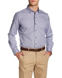 David Donahue - Micro Plaid Regular Fit Sports Shirt - Lyst