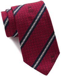 Psycho Bunny Silk Bunny Stripe 2 Tie - Red