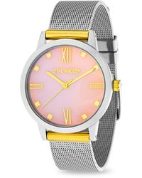 Ferragamo Women's Quartz Analog Crystal Bracelet Watch Set, 32mm - Metallic