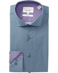 Ted Baker - Geo Print Trim Fit Dress Shirt - Lyst