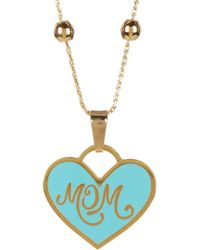 ALEX AND ANI - Colour Infusion Mom Heart Pendant Necklace - Lyst