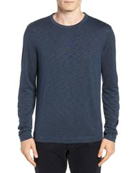 Theory Gaskell Regular Fit Long Sleeve T-shirt - Blue