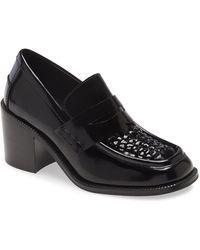Jeffrey Campbell Sims Block Heel Loafer - Black