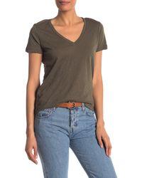 Madewell V-neck Short Sleeve T-shirt - Brown
