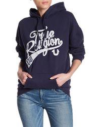 True Religion - Terrycloth Print Boyfriend Hoodie - Lyst