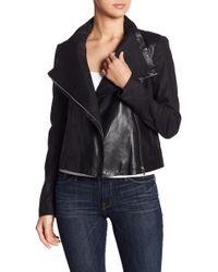 Lamarque - Larmarque Leather & Linen Mix Jacket - Lyst