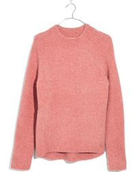 Madewell - Northfield Mock Neck Jumper - Lyst