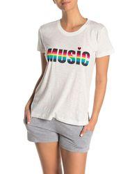 Pj Salvage - Rainbow Text Short Sleeve T-shirt - Lyst