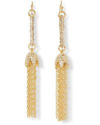 Vince Camuto Linear Tassel Earrings - Metallic