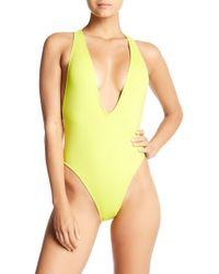 The Bikini Lab - Plunge Racerback One-piece Swimsuit - Lyst