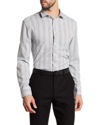 Vince Camuto - Micro Check Trim Fit Sport Shirt - Lyst