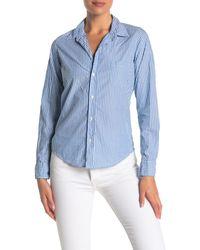 Frank & Eileen Barry Long Sleeve Button Front Shirt - Blue
