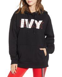 Ivy Park Layer Logo Overhead Hoodie - Black
