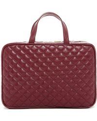 Kestrel Quilted Weekend Bag - Burgundy - Red