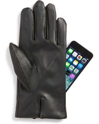 John W. Nordstrom - Faux Fur Lined Leather Touchscreen Gloves - Lyst