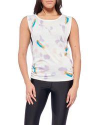 Electric Yoga Karla Tie Dye Tank - White